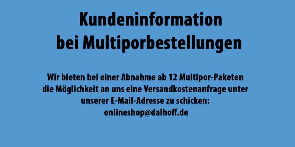 Kundeninformation Multipor