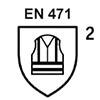 EN471 Klasse 2: <br /> Fluoreszierendes Material (Hintergrund- u. Reflexmaterial)<br /> Für den beruflichen und privaten Gebrauch ?Helfer bei Eins?tzen im Stra?enverkehr?
