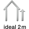 Ideale Einbauhöhe: 2 Meter