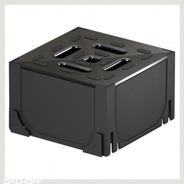 aco self hexaline universaleckst ck aus pp schwarz. Black Bedroom Furniture Sets. Home Design Ideas