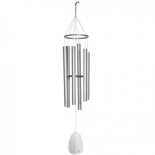 Klang- u. Windspiel von Woodstock | Windsinger Chimes | Chimes of Apollo - Silber | 188cm Lang