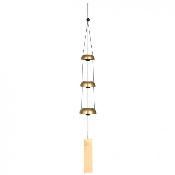 Klang- u. Windspiel von Woodstock | Glocken | Woodstock Temple Bells Trio- Messing | 62,2cm Lang