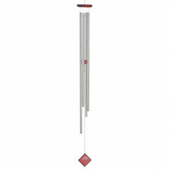 Woodstock Chimes Klangspiel | Kollektion: Encore Kollektion | Chimes of Saturn - Silber | 119,5cm Lang