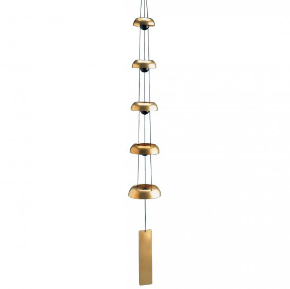 Woodstock Chimes Klangspiel | Kollektion: Glocken | Woodstock Temple Bells Quintett - Messing | 81,3cm Lang