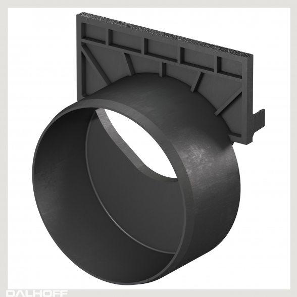 aco self hexaline stirnwand mit stutzen dn 100 f r ende. Black Bedroom Furniture Sets. Home Design Ideas