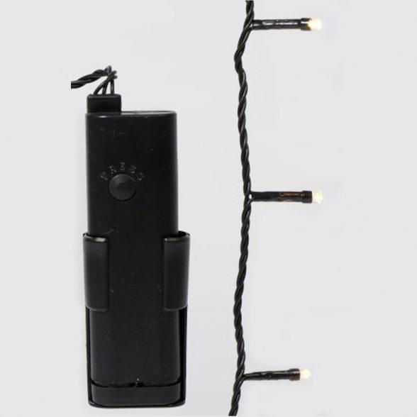 led ricelight lichterkette mit timer warm wei au en. Black Bedroom Furniture Sets. Home Design Ideas