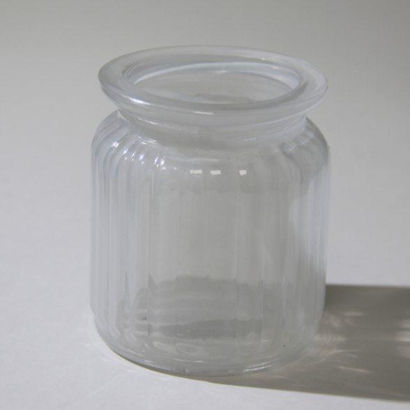 teelichthalter aus farbigem glas weckglasform. Black Bedroom Furniture Sets. Home Design Ideas
