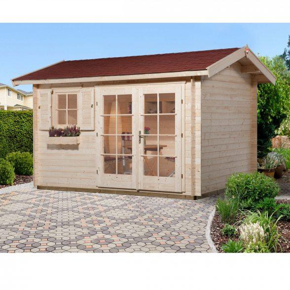Weka gartenhaus 163 mit traufseitigem eingang hier bestellen - Gartenhaus mit 2 eingangen ...