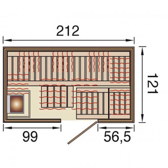 infrarotkabine im sparset von weka hier g nstig online kaufen. Black Bedroom Furniture Sets. Home Design Ideas