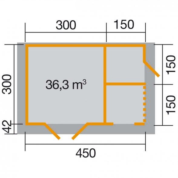 weka gartenhaus 150 mit massivholz satteldach hier kaufen. Black Bedroom Furniture Sets. Home Design Ideas
