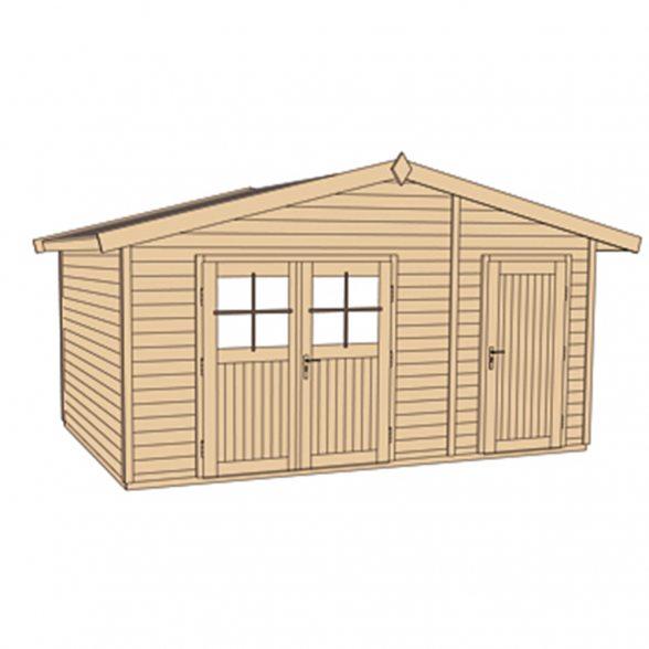 weka gartenhaus 261 mit 2 r umen hier online kaufen. Black Bedroom Furniture Sets. Home Design Ideas